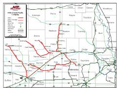 Nebraska Central Railroad Company Map Reduced